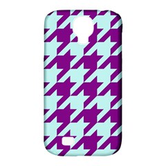 Houndstooth 2 Purple Samsung Galaxy S4 Classic Hardshell Case (pc+silicone) by MoreColorsinLife