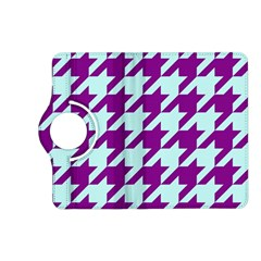 Houndstooth 2 Purple Kindle Fire HD (2013) Flip 360 Case