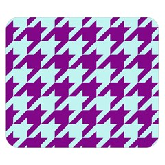 Houndstooth 2 Purple Double Sided Flano Blanket (small)  by MoreColorsinLife