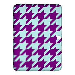 Houndstooth 2 Purple Samsung Galaxy Tab 4 (10.1 ) Hardshell Case  by MoreColorsinLife