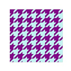 Houndstooth 2 Purple Small Satin Scarf (square)  by MoreColorsinLife