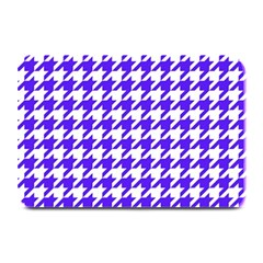 Houndstooth Blue Plate Mats by MoreColorsinLife