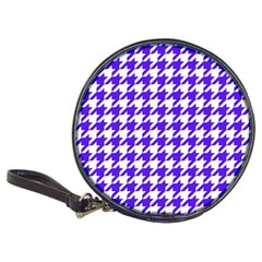 Houndstooth Blue Classic 20 Cd Wallets by MoreColorsinLife