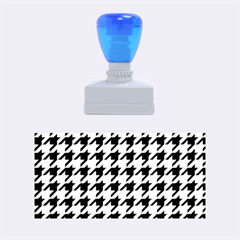 Houndstooth Blue Rubber Stamps (medium)  by MoreColorsinLife