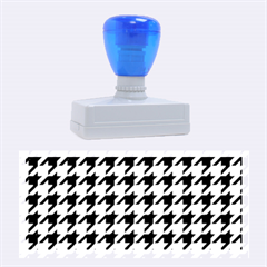 Houndstooth Blue Rubber Stamps (large) by MoreColorsinLife