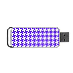 Houndstooth Blue Portable Usb Flash (two Sides) by MoreColorsinLife
