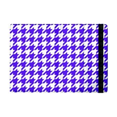 Houndstooth Blue Apple Ipad Mini Flip Case by MoreColorsinLife