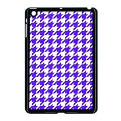 Houndstooth Blue Apple Ipad Mini Case (black) by MoreColorsinLife