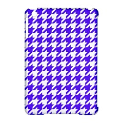 Houndstooth Blue Apple Ipad Mini Hardshell Case (compatible With Smart Cover) by MoreColorsinLife