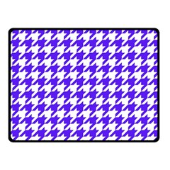 Houndstooth Blue Double Sided Fleece Blanket (small)