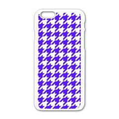 Houndstooth Blue Apple Iphone 6/6s White Enamel Case