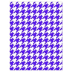 Houndstooth Blue Drawstring Bag (large) by MoreColorsinLife