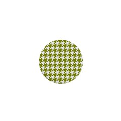 Houndstooth Green 1  Mini Buttons by MoreColorsinLife