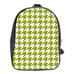Houndstooth Green School Bags(large)  by MoreColorsinLife