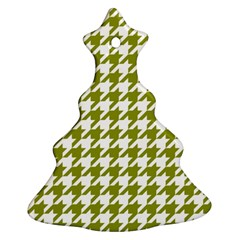 Houndstooth Green Christmas Tree Ornament (2 Sides)