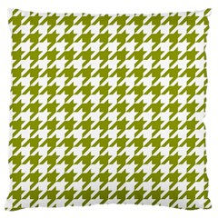 Houndstooth Green Large Flano Cushion Cases (two Sides)  by MoreColorsinLife