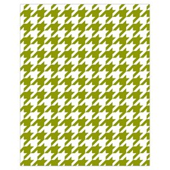 Houndstooth Green Drawstring Bag (small) by MoreColorsinLife