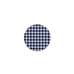 Houndstooth Midnight 1  Mini Buttons by MoreColorsinLife