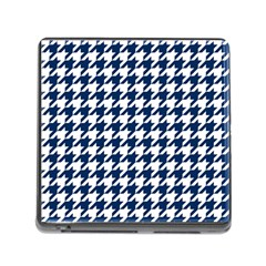 Houndstooth Midnight Memory Card Reader (Square) by MoreColorsinLife