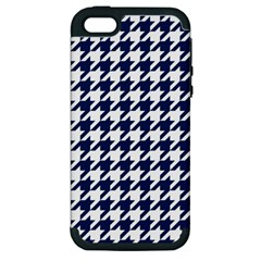 Houndstooth Midnight Apple Iphone 5 Hardshell Case (pc+silicone) by MoreColorsinLife