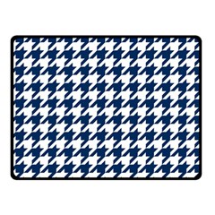 Houndstooth Midnight Double Sided Fleece Blanket (small)