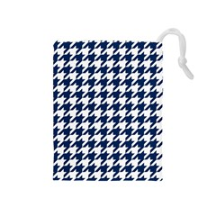 Houndstooth Midnight Drawstring Pouches (medium)