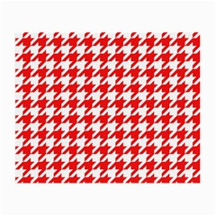 Houndstooth Red Small Glasses Cloth by MoreColorsinLife