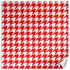 Houndstooth Red Canvas 16  X 16   by MoreColorsinLife