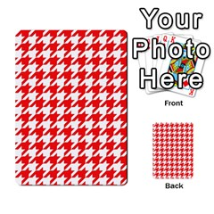 Houndstooth Red Multi-purpose Cards (Rectangle)  by MoreColorsinLife