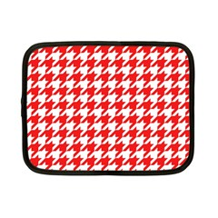 Houndstooth Red Netbook Case (small)  by MoreColorsinLife