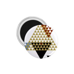 Colorful Modern Geometric Triangles Pattern 1 75  Magnets by Dushan