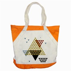 Colorful Modern Geometric Triangles Pattern Accent Tote Bag  by Dushan