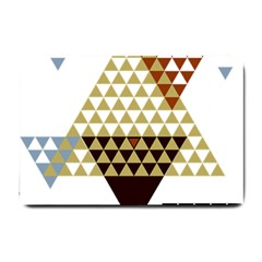 Colorful Modern Geometric Triangles Pattern Small Doormat  by Dushan