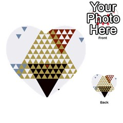 Colorful Modern Geometric Triangles Pattern Multi Purpose Cards (heart)  by Dushan