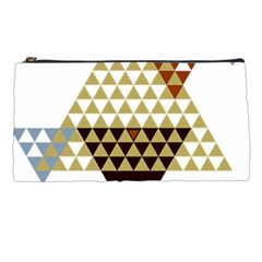 Colorful Modern Geometric Triangles Pattern Pencil Cases by Dushan