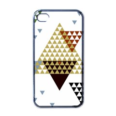 Colorful Modern Geometric Triangles Pattern Apple Iphone 4 Case (black) by Dushan