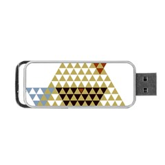 Colorful Modern Geometric Triangles Pattern Portable Usb Flash (one Side) by Dushan