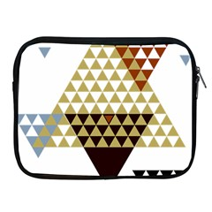 Colorful Modern Geometric Triangles Pattern Apple Ipad 2/3/4 Zipper Cases by Dushan