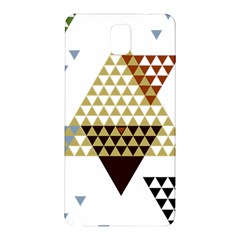 Colorful Modern Geometric Triangles Pattern Samsung Galaxy Note 3 N9005 Hardshell Back Case by Dushan