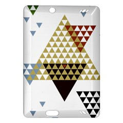 Colorful Modern Geometric Triangles Pattern Kindle Fire HD (2013) Hardshell Case by Dushan