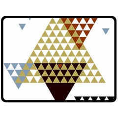 Colorful Modern Geometric Triangles Pattern Double Sided Fleece Blanket (large)  by Dushan
