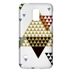 Colorful Modern Geometric Triangles Pattern Galaxy S5 Mini by Dushan
