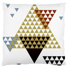 Colorful Modern Geometric Triangles Pattern Large Flano Cushion Cases (Two Sides)