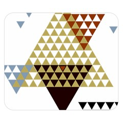 Colorful Modern Geometric Triangles Pattern Double Sided Flano Blanket (small)  by Dushan