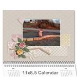 לאמא שלי - Wall Calendar 11  x 8.5  (12-Months)