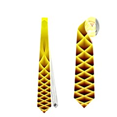 Swirling Dreams Yellow Neckties (one Side)