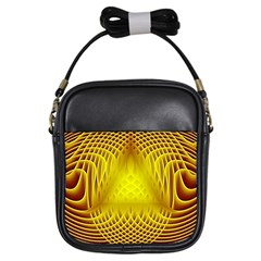 Swirling Dreams Yellow Girls Sling Bags