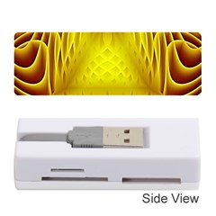 Swirling Dreams Yellow Memory Card Reader (stick)  by MoreColorsinLife