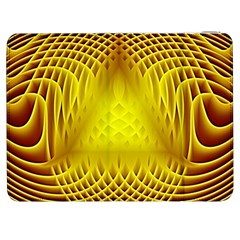 Swirling Dreams Yellow Samsung Galaxy Tab 7  P1000 Flip Case by MoreColorsinLife