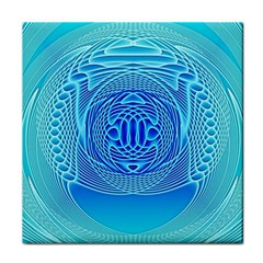 Swirling Dreams, Aqua Tile Coasters by MoreColorsinLife